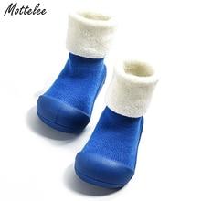 Tykkere Baby Boys Piger First Walker Børn Design samme design Anti-slip toddler sko nyfødte boot scok baby outdoos sko