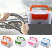 12 Car Plug Heated Bento Box Autos Truck Electric Meal Prep Heating Food Warmer Lunchbox For kids Tableware Cofre Set