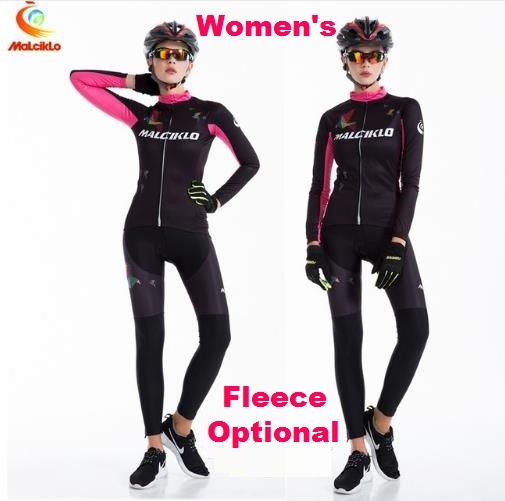 Female Long Sleeve Sports Bike Jersey Womens' Cycling Jerseys Winter Fleece Bicycle Racing Clothings Racing Dress QM17LTW1 life on track cycling clothings bike bicycle jerseys long lasting wolf graphic women long sleeves ergonomic designs tops shirts