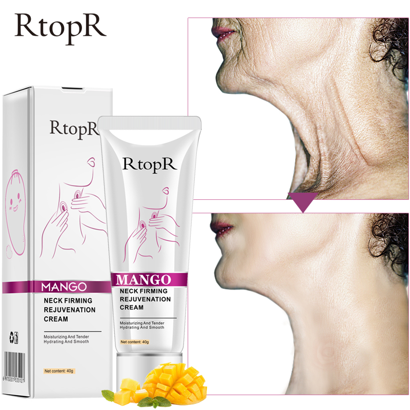 RtopR Neck Firming Rejuvenation Cream Anti-wrinkle Firming Skin Whitening Moisturizing Neck Serum Mild Peeling Beauty Neck Care