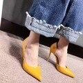 Zapatos de marca Mujer Tacones Altos Bombas Rojas Tacones Altos 10.5 CM Zapatos de las mujeres Zapatos de Tacón Alto de La Boda Bombas Zapatos Negro amarillo tacones