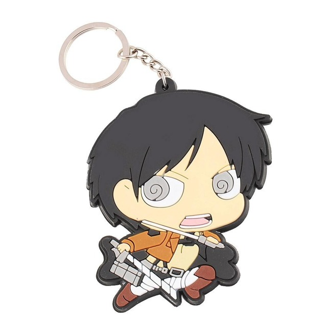 Attack On Titan Anime Action Figure 8.5cm Metal & Rubber Key-chain