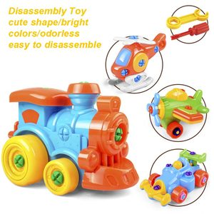 Image 3 - 3D פאזל פירוק צעצוע Moto מסוק מטוסי רכבת DIY בורג אגוז קבוצת מותקן ילדים צעצועים לילדים מתנת יום הולדת