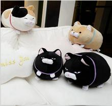 WYZHY down cotton beard blessing cat plush toy doll sofa decoration to send friends and children gifts  40CM