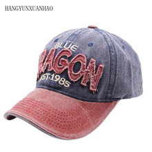 New Washed Cotton 100% Baseball Cap Hat For Women Men Vintage Dad Hats Snapback Embroidery letter Outdoor Casquette Sports Caps