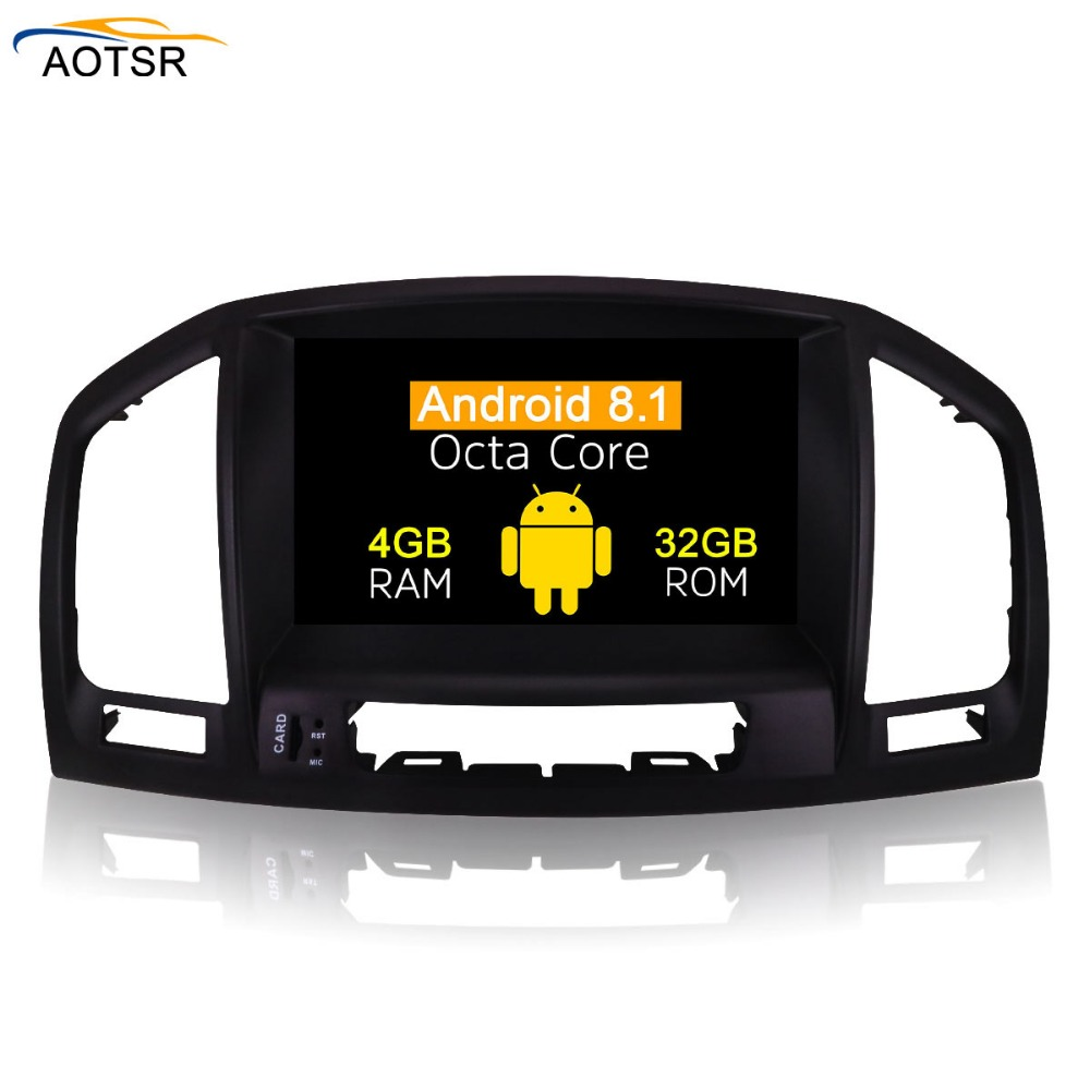 IPS Screen 8 Android 8.1 Car radio Stereo head unit For Opel Vauxhall Insignia 2008 2013 DVD GPS Navigation Radio Audio Video