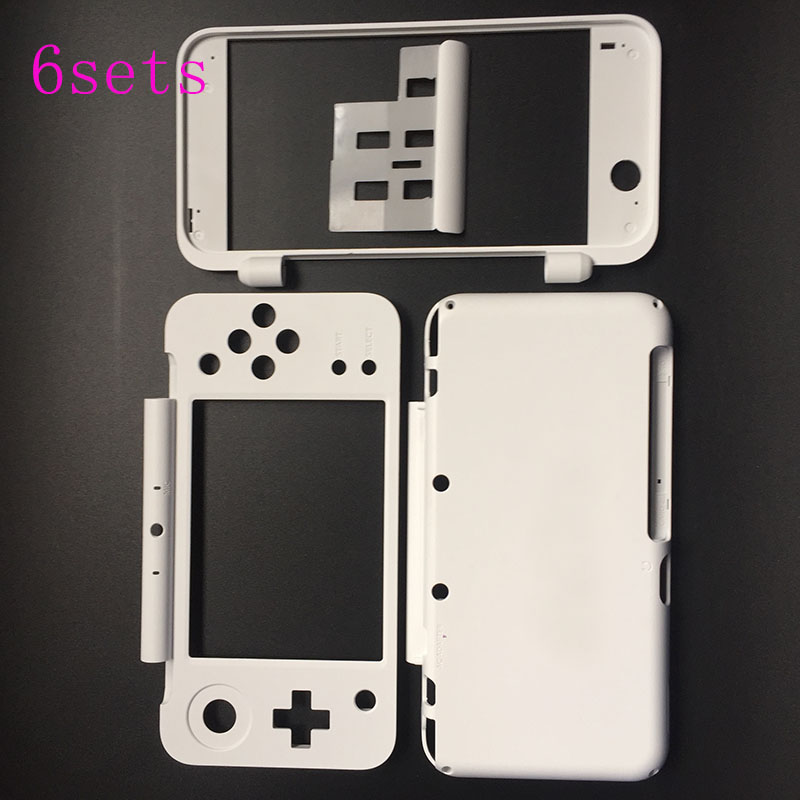6PCS 3 in 1 White Replacement Plastic Housing Shell Case Cover Plate Set for New Nintendo