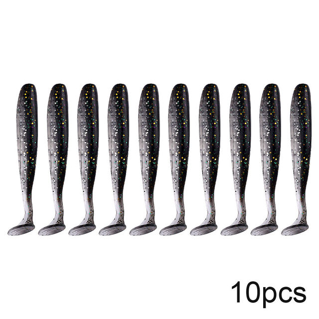 Best QXO 10pcs/Lot Soft Lures Silicone Bait Fishing Lures cb5feb1b7314637725a2e7: A B C D E F G H I J K