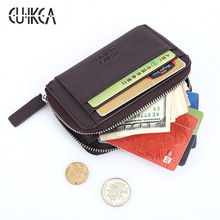 Huafei New Fashion Wallet Män Plånbok Originality Mini Wallet Zipper Mynt Slim Wallet Men Purse Card Holder Card Case 333