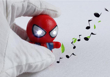 1pcs  LED Lighting Spider-Man Action Figure Toys With Sound Keychain Wholesale