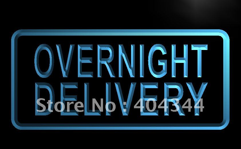 LB524- Overnight Delivery Display Cafe   LED Neon Light Sign     home decor shop crafts