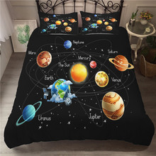 A Bedding Set 3D Printed Duvet Cover Bed Space astronaut Home Textiles for Adults Bedclothes with Pillowcase #ETTK07