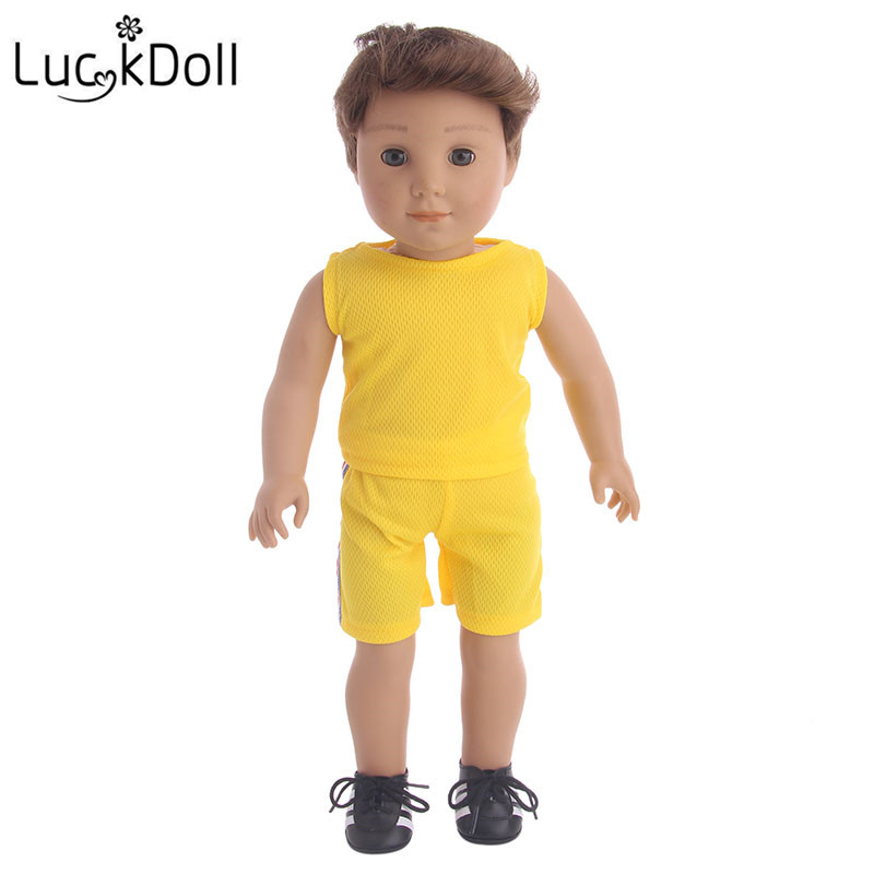 Luckdoll 2018 Hot Doll Garment Soccer Suit fit 18-Inch American Boy Logan Doll, Kids Like Doll Accessories