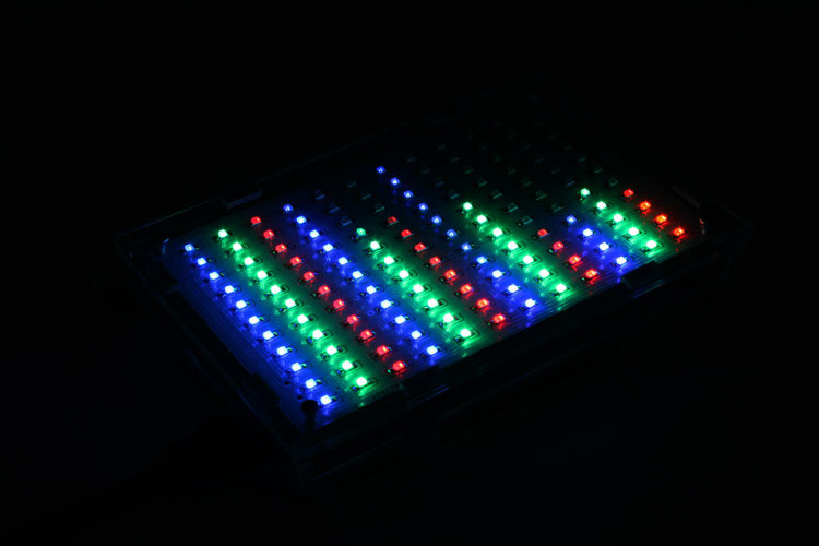 Free-Shipping-Wholesale-Price-LED-Music-Spectrum-Electronic-DIY-LED-Flash-Kit-12-11FFT-with-housing (2)