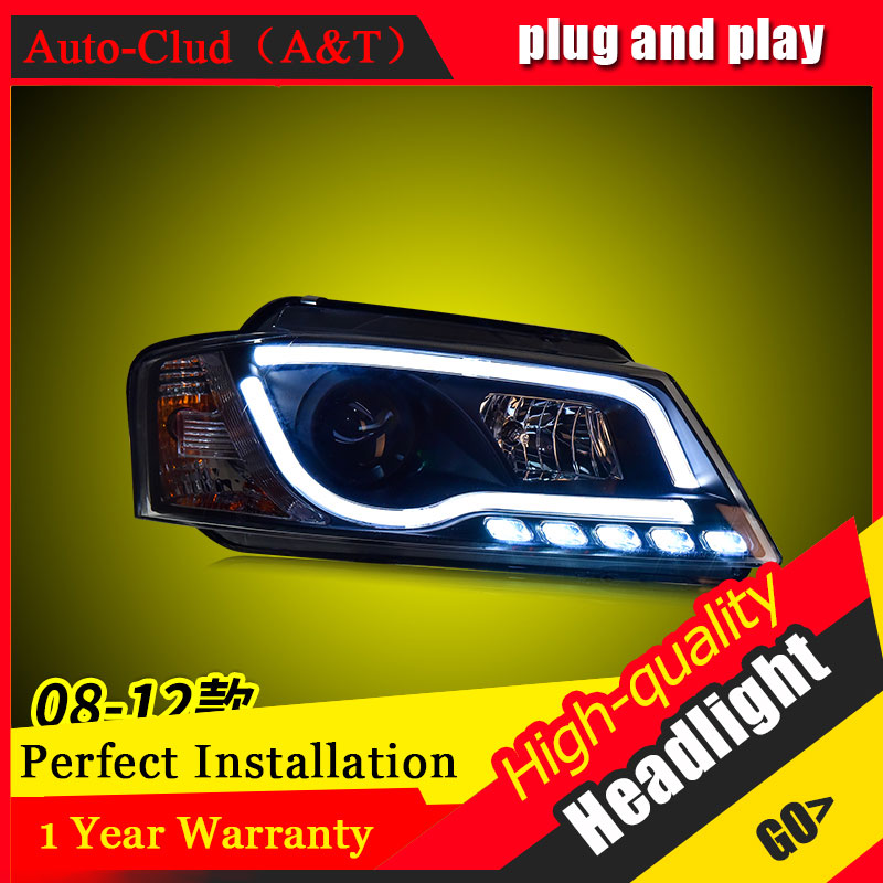 Auto Clud Car Styling For Audi A3 headlights 2008 2012 For A3 head lamp led DRL front Bi Xenon Lens Double Beam HID KIT
