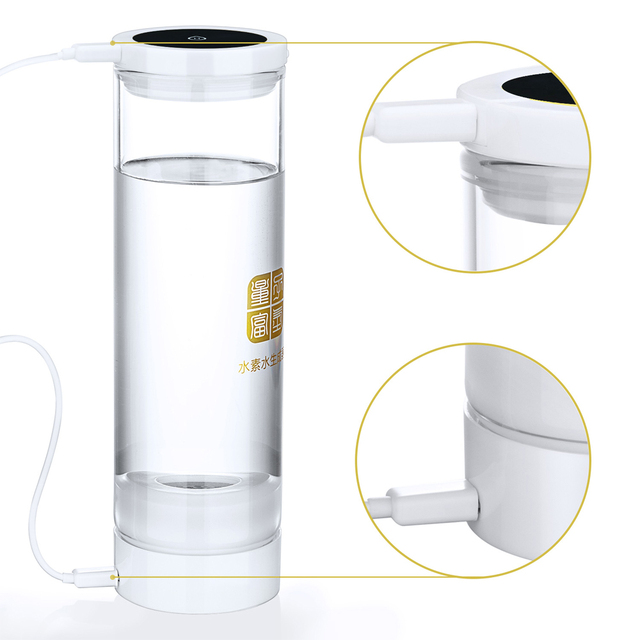 Hydrogen generator water H2 electrolysis 600ML USB detoxify and nourishing the face Hydrogen rich water cup/bottle