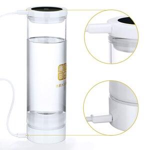 Image 4 - Wasserstoff Reiche Generator H2 Elektrolyse Alkalische Wasser Tasse 600ML USB Aufladbare Entgiften Pflegende Die Gesicht Anti Aging