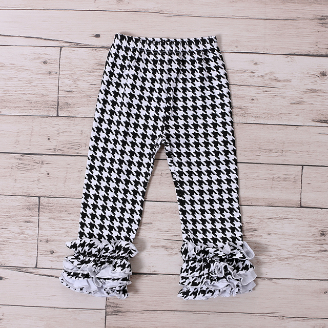 67a0e1cf7e73ed Kaiya Angel Houndstooth Ruffle Icing Leggings Pants Kikds Icing Ruffles Hot  Sale Ruffle Icing Leggings Winter Fall Clothes