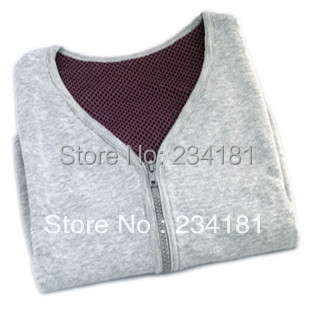 Tourmaline self-heating shoulder pad shirt vest male women's kaross thermal massage stone