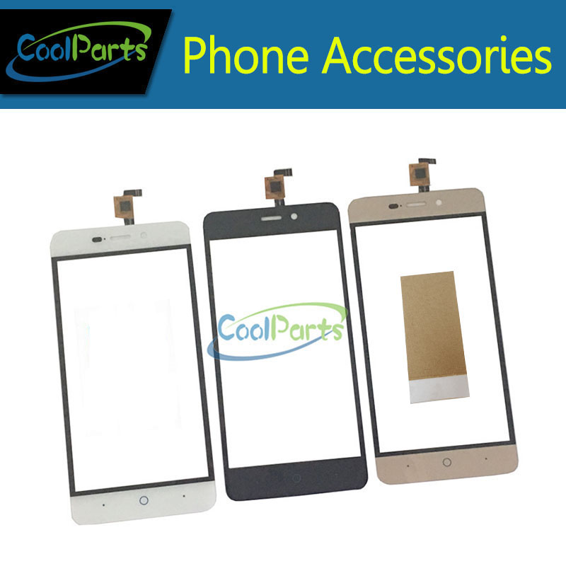 1PC/Lot High Quality For ZTE Blade X3 D2 T620 A452 Touch Screen Digitizer Replacement Part With Tape Black White Gold Color