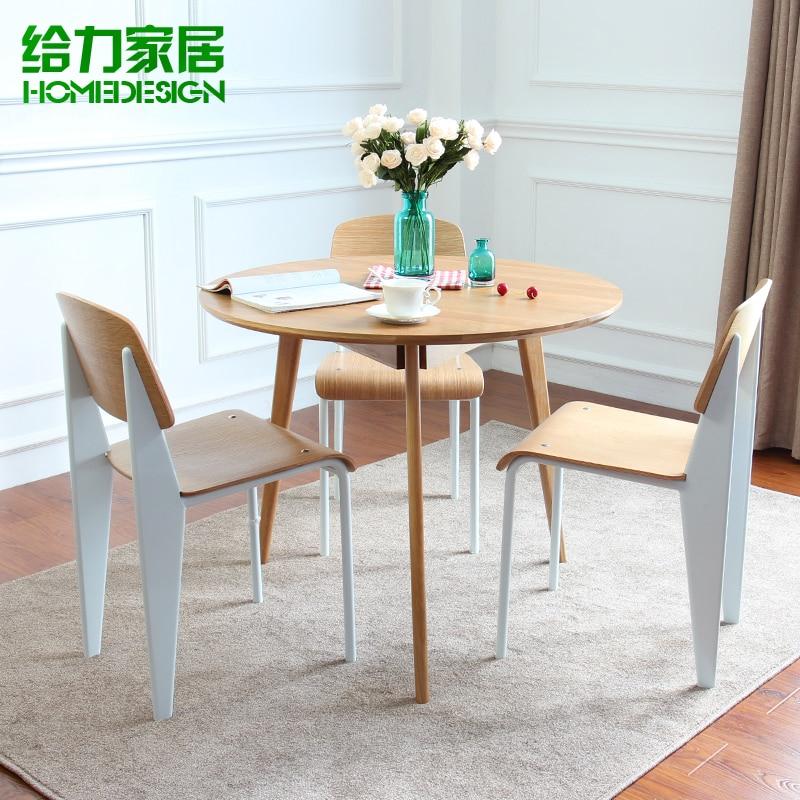 Madera nórdica IKEA mesa de comedor pequeña mesa de roble ...