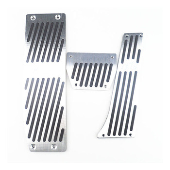 Silver/Black Aluminium Alloy Car Pedals Rest For BMW X1 M3 E30 E36 E39 E46 E87 E90 E91 E92 E93 Car-Styling accessories image