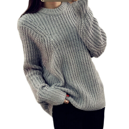5a7145a51fb39b Winter O-Neck Loose Casual Women Sweater Batwing Pullover Oversize Jumper  Pull Crochet Ladies Tops