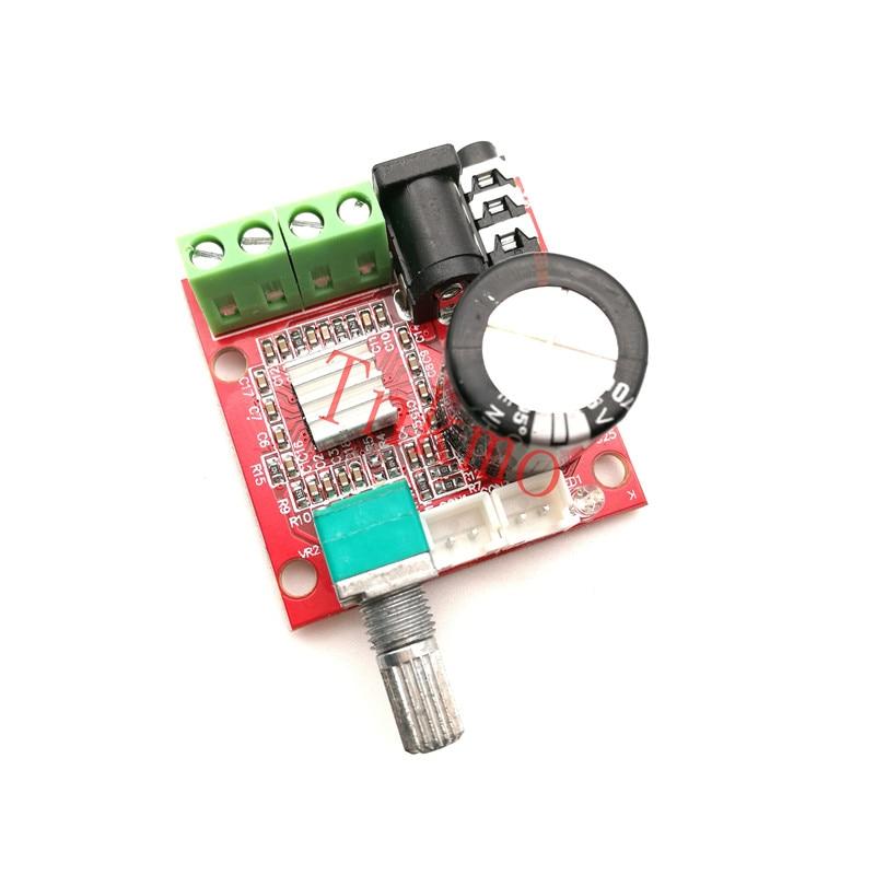 Free shipping 1PCS 12V Mini Hi-Fi PAM8610 Audio Stereo Amplifier Board 2X10W Dual Channel D Class