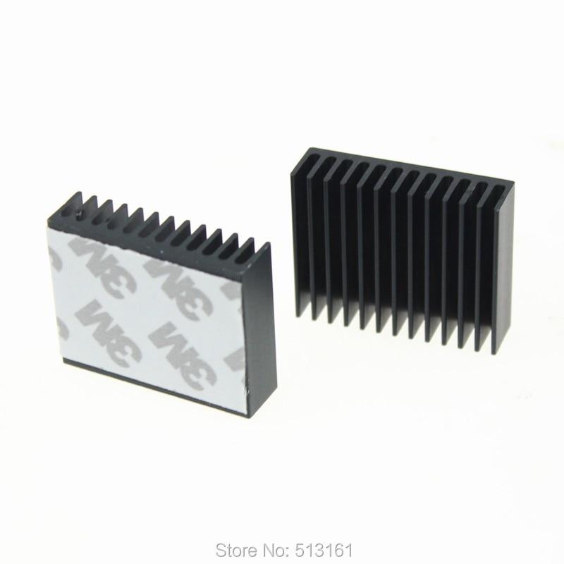 2 Piece / Lot 40x32x10mm Amplifier Peltier Cooling Cooler Heat Sink Aluminum Radiator Heatsink 2 x b ddr ddr2 ram memory cooler heat spreader heatsink z09 drop ship