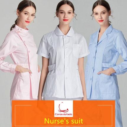 Women's Sets Suits & Sets Persevering Nurses Wear Long-sleeved Women Winter Wear Complete Summer Short Sleeve Doll Collar Trim Body Set Work Clothes