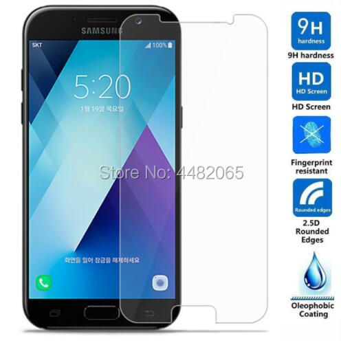 For <font><b>Samsung</b></font> Galaxy A5 2017 Tempered <font><b>Glass</b></font> 9H Front Guard Protective Film LCD Screen Protector For A520F <font><b>A520</b></font> Saver Shield image