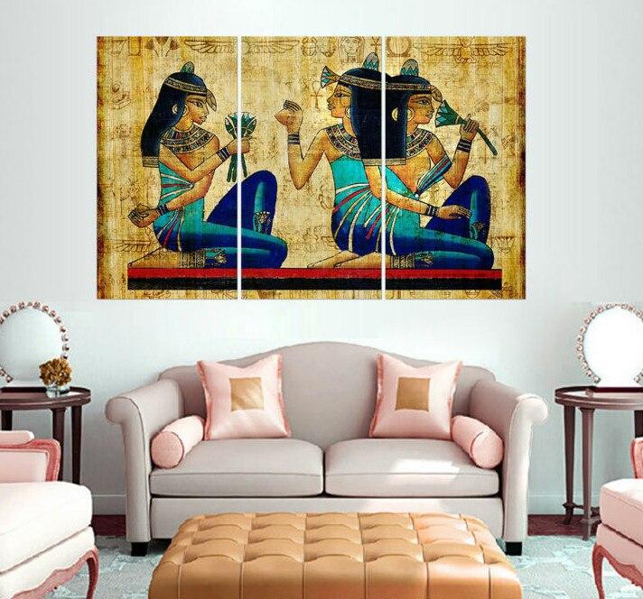 Novo 3 Peça Canvas Art HD Sala Decorações Para Casa Os Hieróglifos Egípcios  Papiro Cópia Da Lona Abstrata PaintingJ0226 Em Pintura U0026 Caligrafia De Casa  E ...