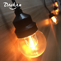 13M LED PMMA G50 Globe String Light With 20X Droop Festoon Ball For Outdoor Wedding Light String Christmas Patio Party Decor