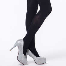 Hot Fashional Spring Autumn Tights 300 Denier  Pattern Jacquard Velvet Pantyhose Floral and Plaid High Elasticity