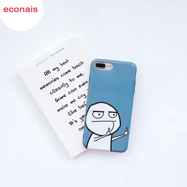 econais case For iPhone 7 6s 8 para Accuse I7 Coque Resentful Para Abuse I6 CAPA Wreak Phone Back Shell For iPhone 7 Plus 6 Plus