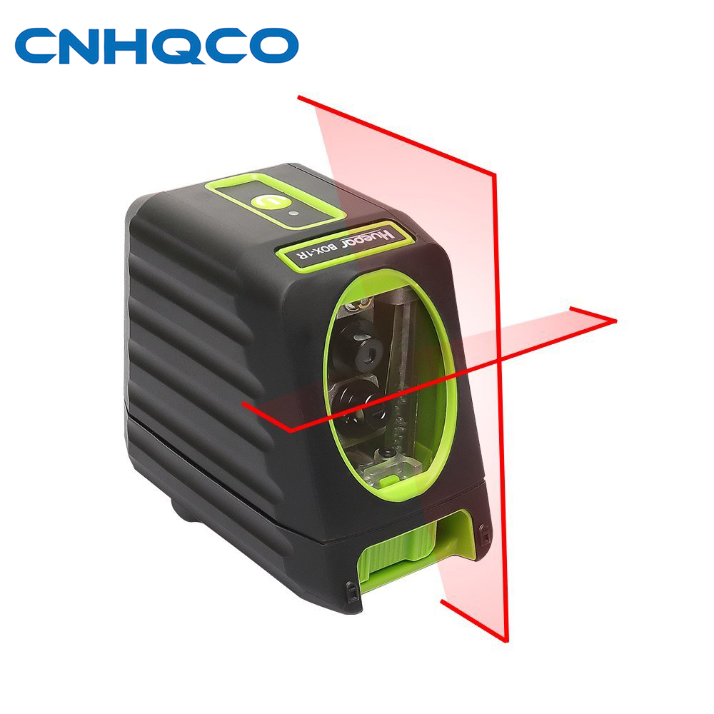 CNHQCO Self-leveling Laser Level 2 Line Box-1R 98ft/30m Red Cross Line Laser Level with vertical beam spread covers AE142 high quality southern laser cast line instrument marking device 4lines ml313 the laser level