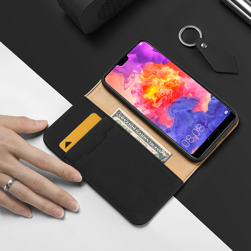 Dux Ducis Luxury Genuine Leather Wallet Case For Huawei P20 Pro Vintage Magnetic Flip Cover For Huawei P20 P20 Pro Phone Coque in Wallet Cases from Cellphones Telecommunications