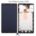 Para nokia lumia 1520 display lcd + touch screen com digitador + moldura quadro assembléia completa + ferramentas abertas, preto Frete grátis