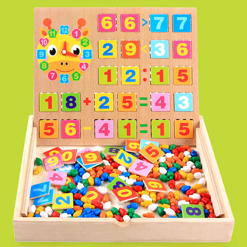Дети Цифровой Стад комбинации/гриб накладные ногти деревянный игрушечные лошадки подключен головоломки Детская обучающая коробка развивающие