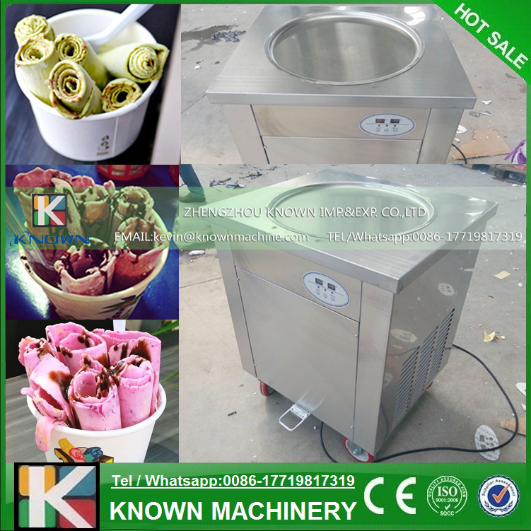 Ice Cream Machine Reviews Part - 47: Hot Selling Single Round Pan Fry Ice Cream Maschine / Commercial Fried Ice  Cream Machine With 110 / 220 V Voltage