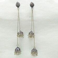 3839f3b8726a ZHENXIN Chic tallada a mano de la moda de las mujeres de plata pendientes  Vintage único gitano clásico joyería India