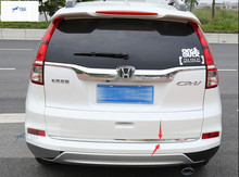 Interior For Honda CRV CR-V 2012 – 2015 Stainless Steel Rear Tailgate Trunk Lid Cover Trim 1 pcs
