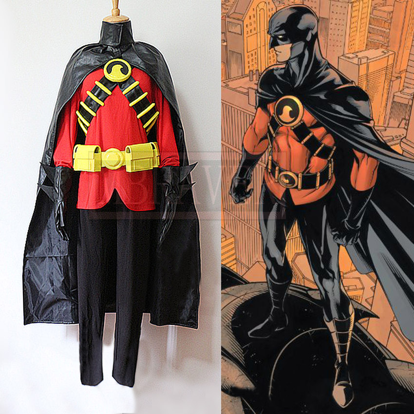 Batman DC Comics Young Justice Cosplay Red Robin Tim Drake Damian Costume New Cool Cape Outfits Uniform Halloween