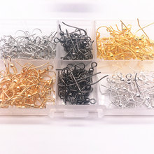 Wholesale 100PCS(50pair) Findings Earring Hook Coil Ear Wire DIY Jewelry Making(China)