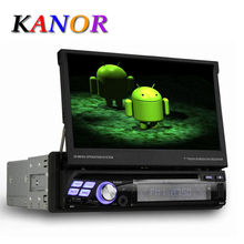 KANOR Single 1 Din Android 5.11 Quad Core Unviersal Car DVD GPS Multimedia 7inch Capacitive Cassette Player WIFI Bluetooth