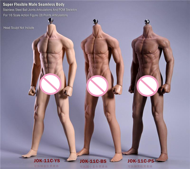 JIAOU DOLL 1//6 Male Seamless Body Flexible Wheat Skin Action Figure JOK-11C-BS