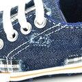 Agujeros de Comercio exterior de Lavado Vaquero Zapato de Bebé 2017 Muchachas de Los Muchachos Suaves del Pesebre Infantil Primer Caminante Del Niño Recién Nacido Zapatos Casuales