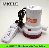 Sıcak Satış MKBP-G2000-12 Dalgıç 2000 GPH Sintine Su Pompası, 2000GPH 12 V 10A Şamandıra Anahtarı Ile Pompa