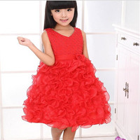 MQA L 92 Baby Girl Clothes Kids Girl Dress Children Girl Beautiful Princess Party Marry Baby