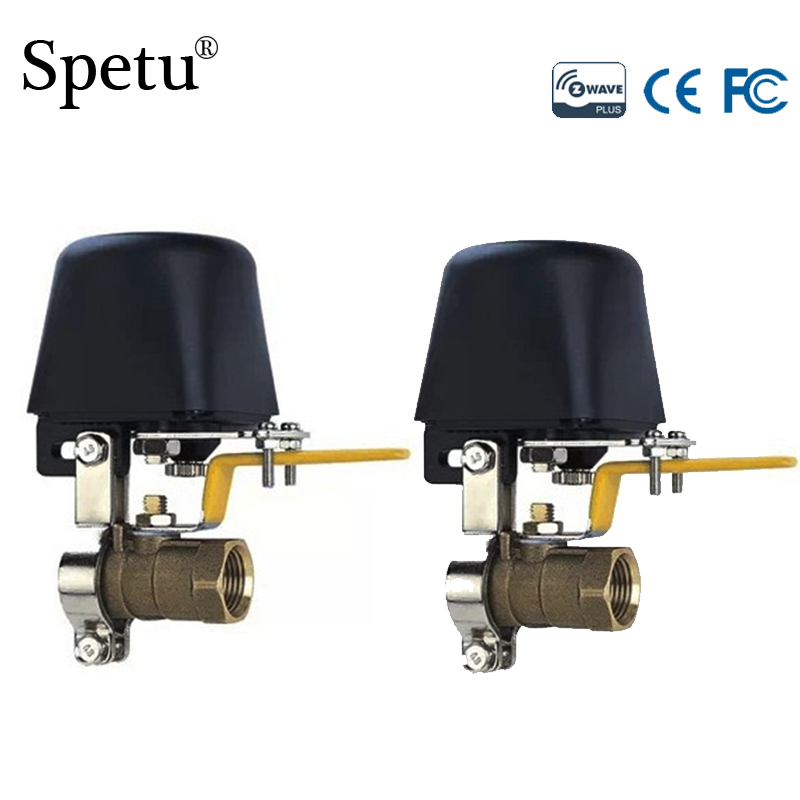 Spetu 2PCS/LOT Z-Wave Water Valve Smart Home Automation System Valve For Gas Water Control Z Wave Water Leak Gas Leakage Sensor